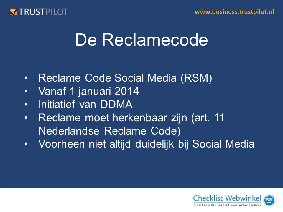 De Reclamecode Reclame Code Social Media (RSM) Vanaf 1 januari 2014