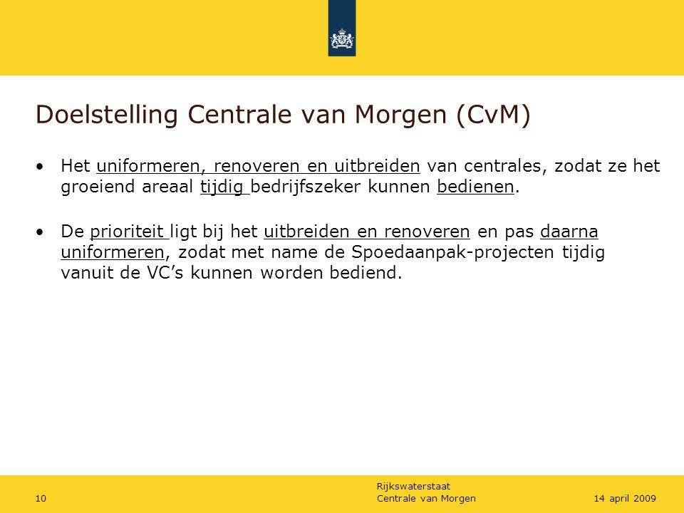 Doelstelling Centrale van Morgen (CvM)