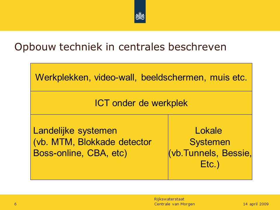 Opbouw techniek in centrales beschreven