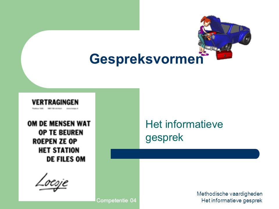 Competentie 04 Het informatieve gesprek
