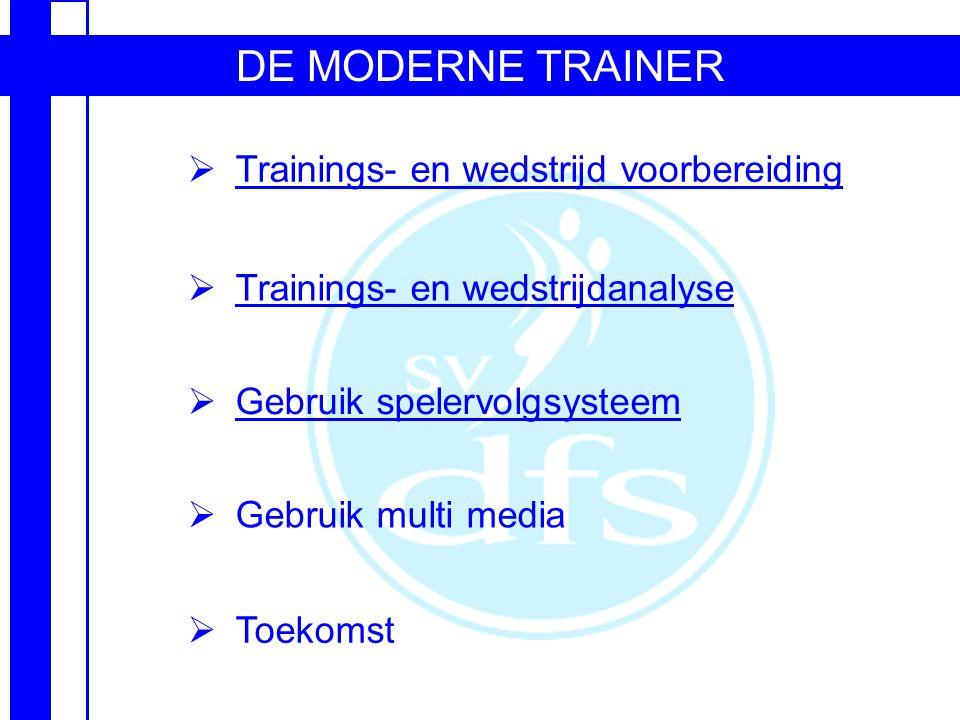 DE MODERNE TRAINER Trainings- en wedstrijd voorbereiding