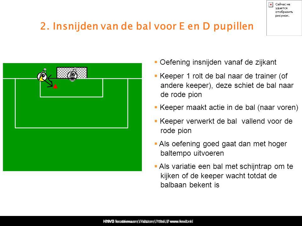 2. Insnijden van de bal voor E en D pupillen
