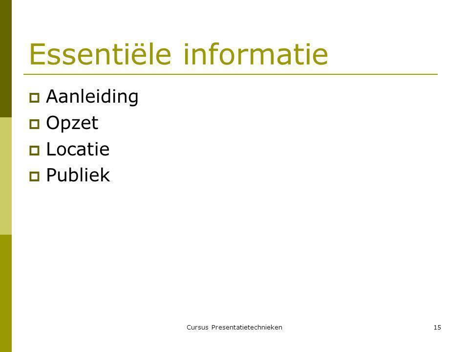 Essentiële informatie