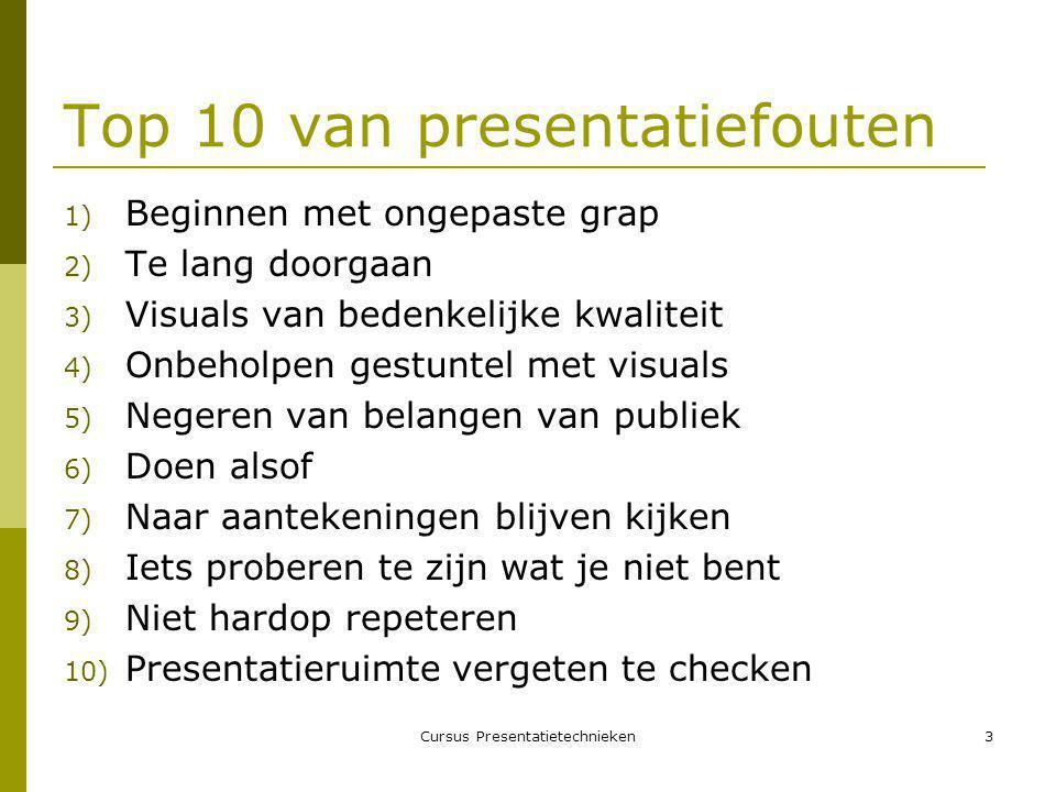 Top 10 van presentatiefouten