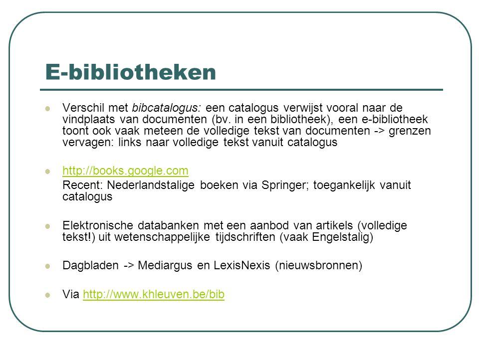E-bibliotheken