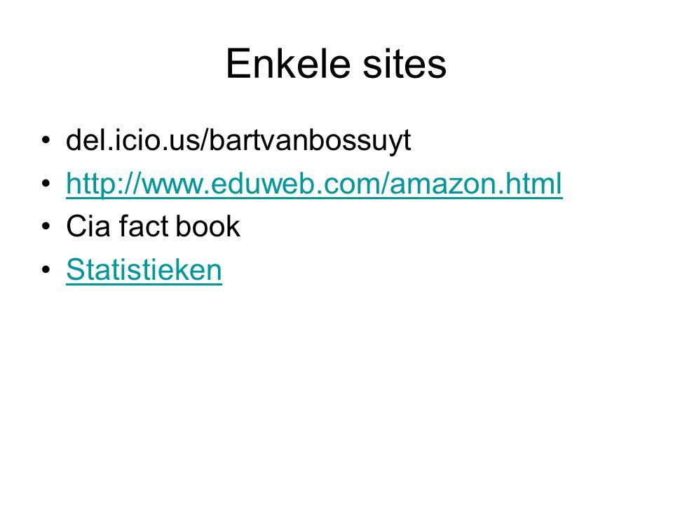 Enkele sites del.icio.us/bartvanbossuyt