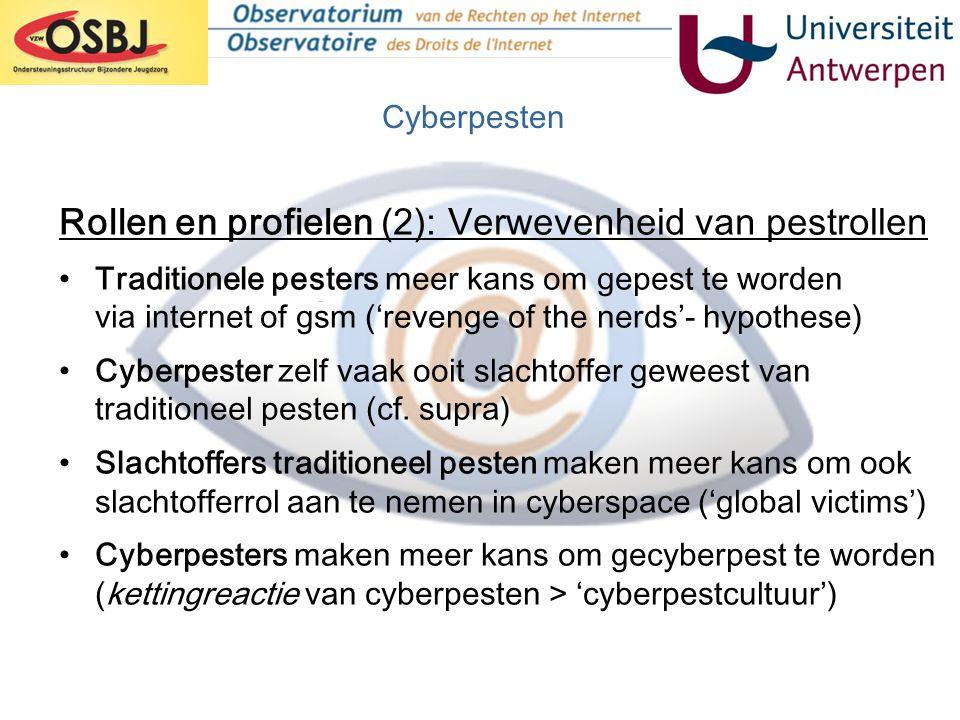 Rollen en profielen (2): Verwevenheid van pestrollen