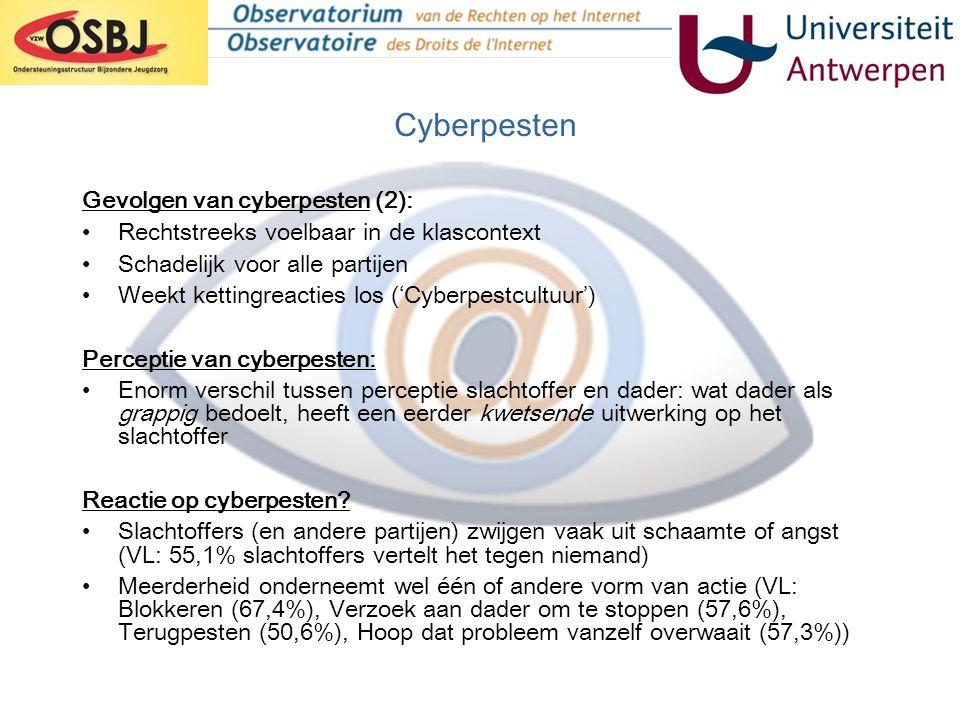 Cyberpesten Gevolgen van cyberpesten (2):