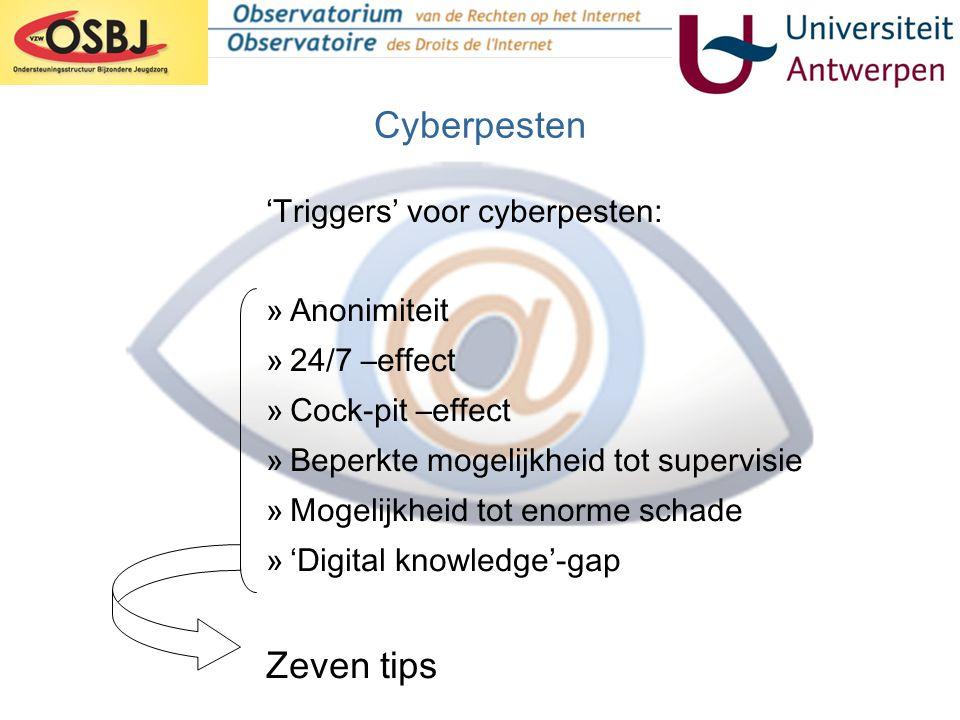 Cyberpesten Zeven tips 'Triggers' voor cyberpesten: Anonimiteit