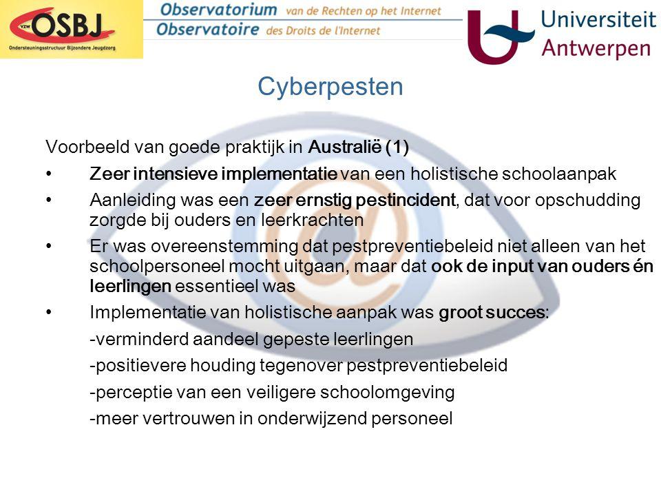 Cyberpesten Voorbeeld van goede praktijk in Australië (1)