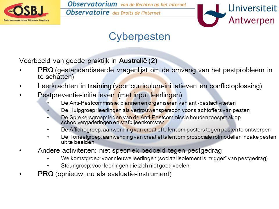 Cyberpesten Voorbeeld van goede praktijk in Australië (2)