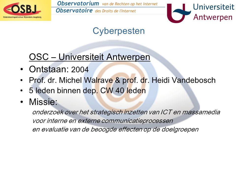 OSC – Universiteit Antwerpen Ontstaan: 2004