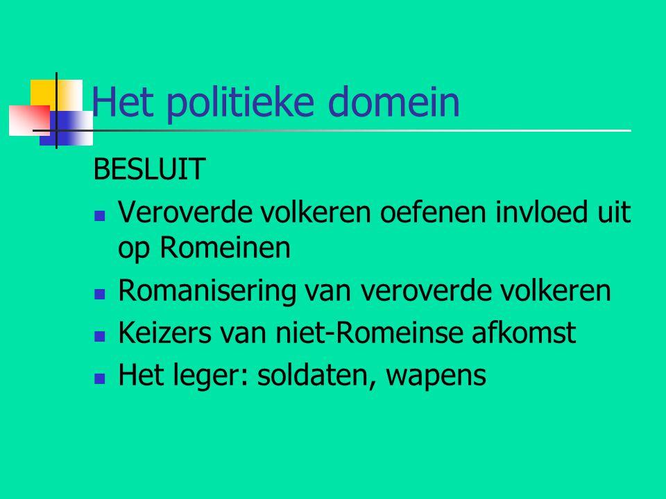 Het politieke domein BESLUIT