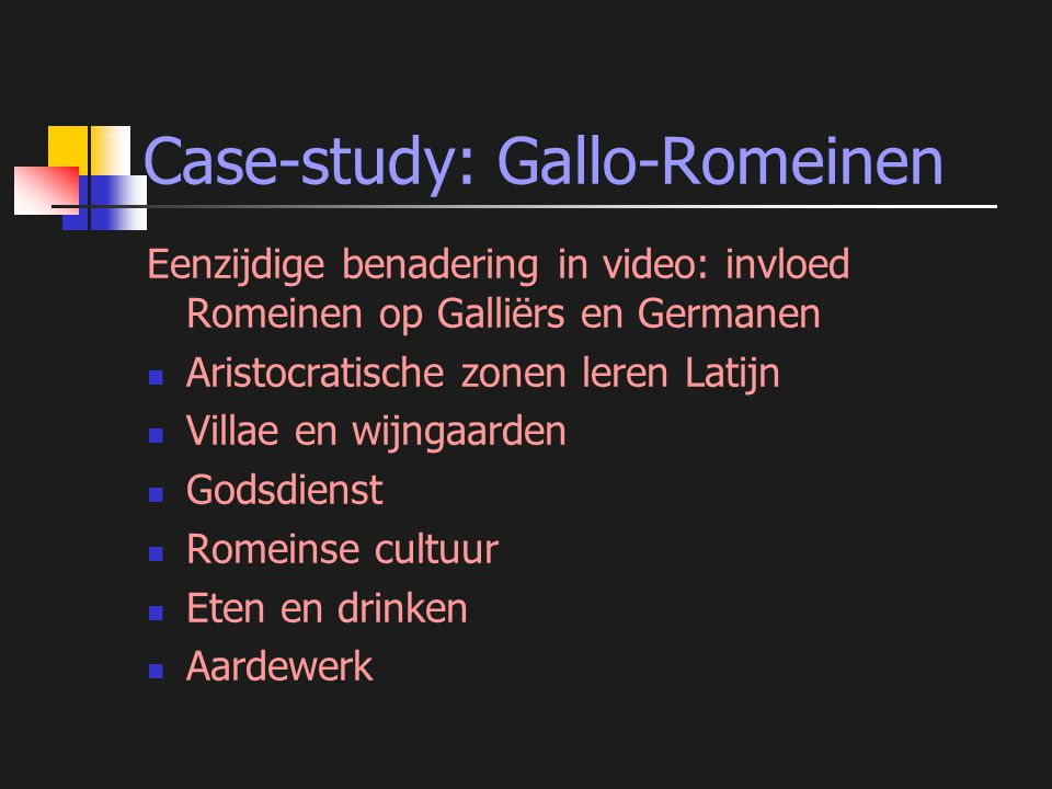 Case-study: Gallo-Romeinen