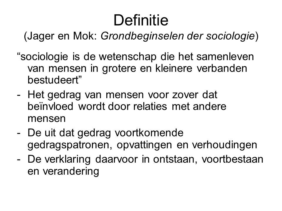 Definitie (Jager en Mok: Grondbeginselen der sociologie)