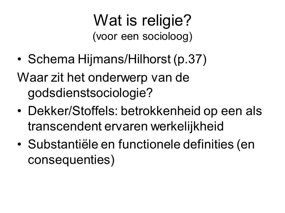 Wat is religie (voor een socioloog)