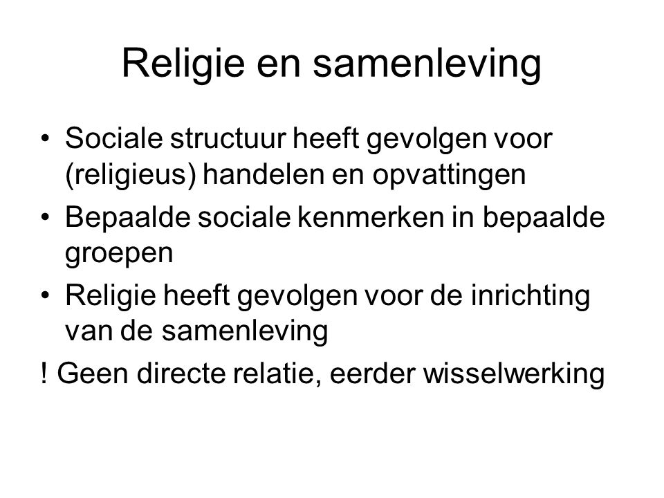 Religie en samenleving