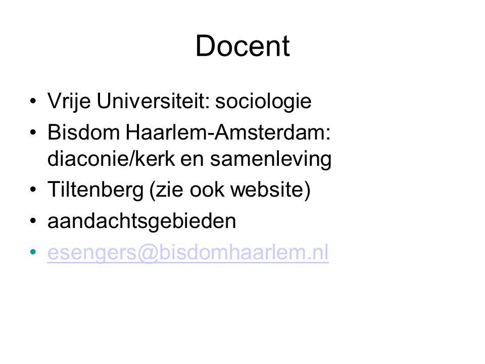 Docent Vrije Universiteit: sociologie