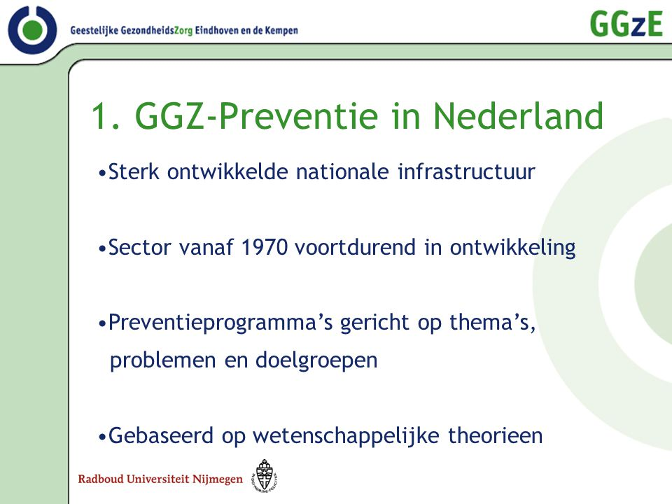 1. GGZ-Preventie in Nederland