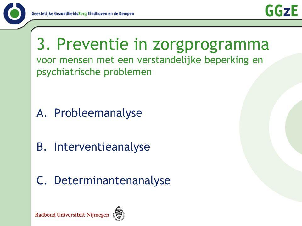 3. Preventie in zorgprogramma voor mensen met een verstandelijke beperking en psychiatrische problemen