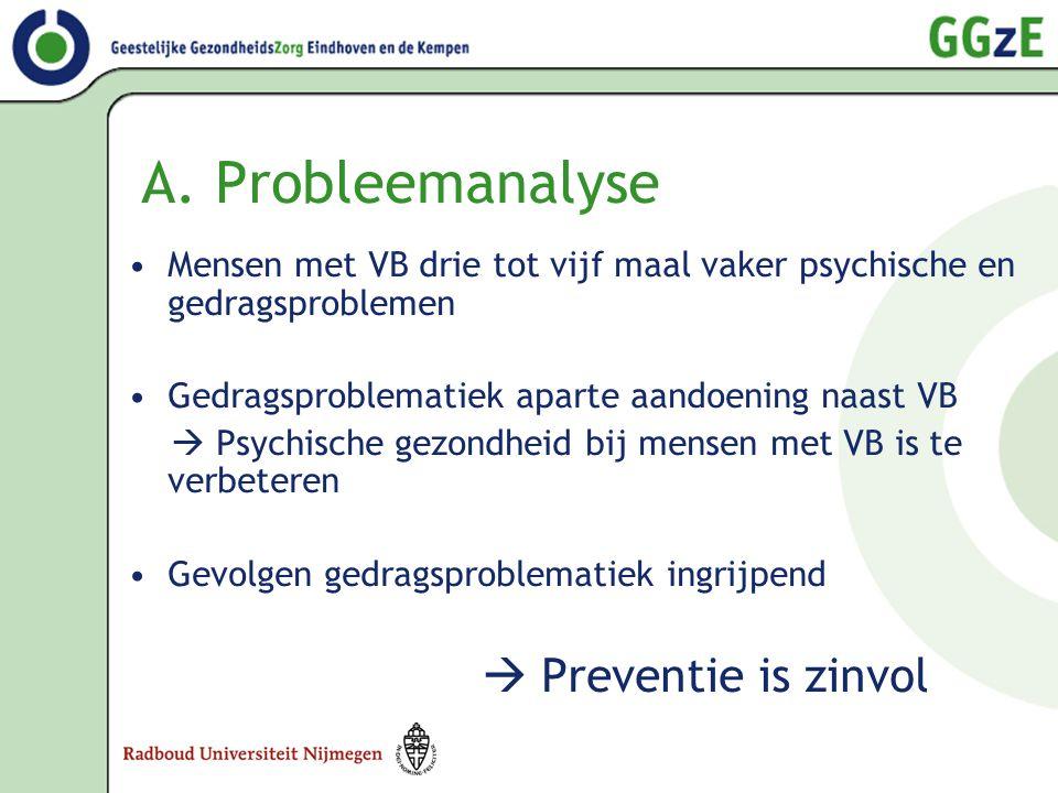A. Probleemanalyse  Preventie is zinvol