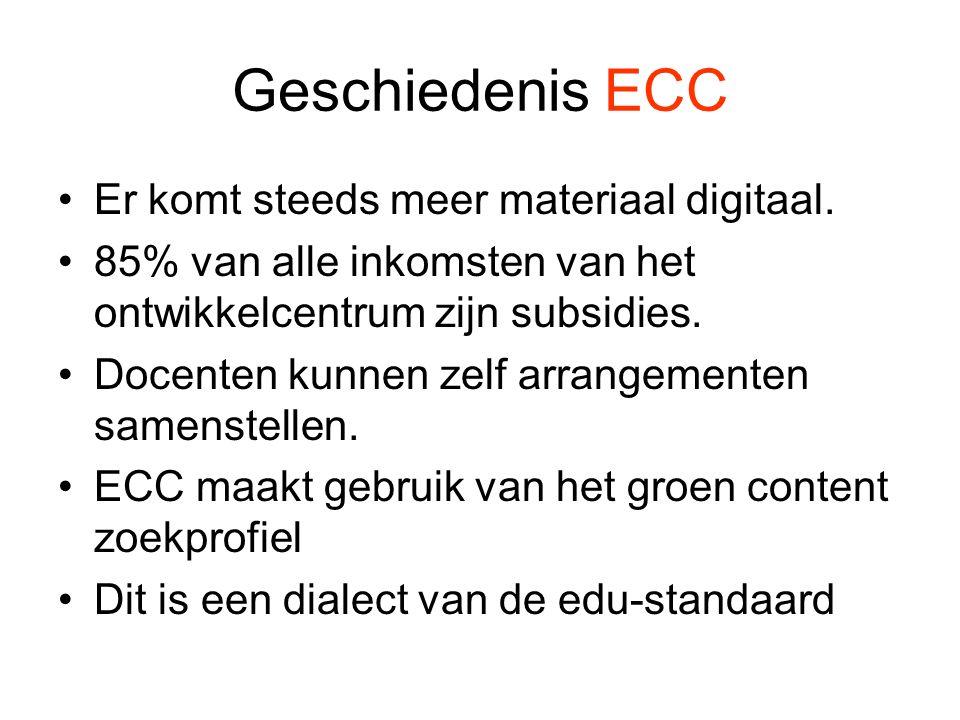 Geschiedenis ECC Er komt steeds meer materiaal digitaal.