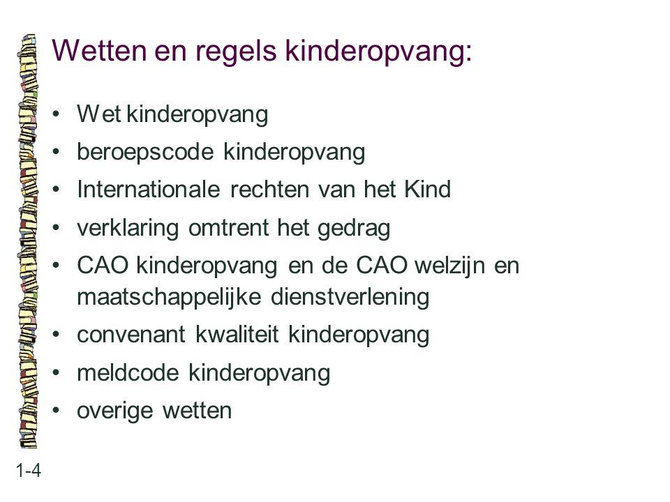 Wetten en regels kinderopvang: