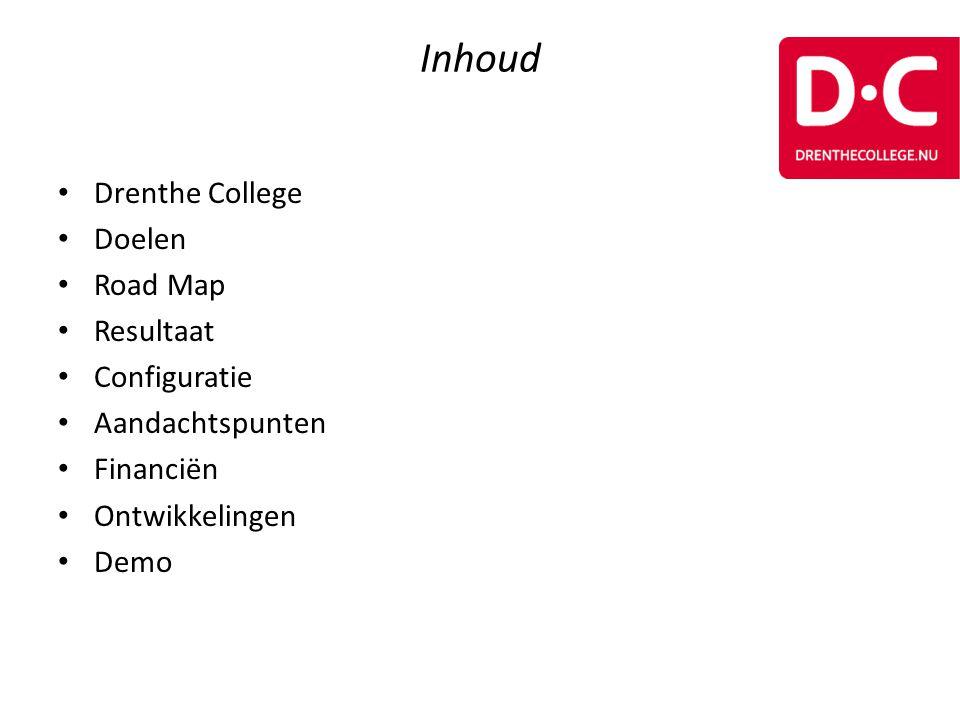 Inhoud Drenthe College Doelen Road Map Resultaat Configuratie