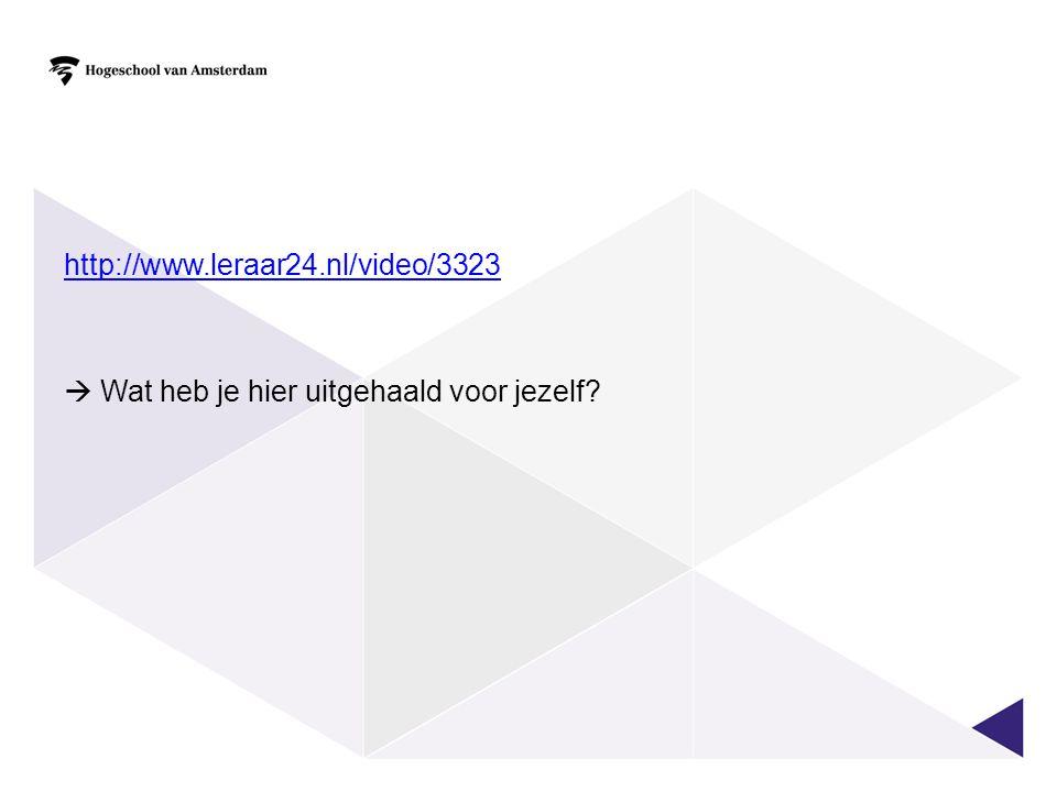 http://www.leraar24.nl/video/3323  Wat heb je hier uitgehaald voor jezelf