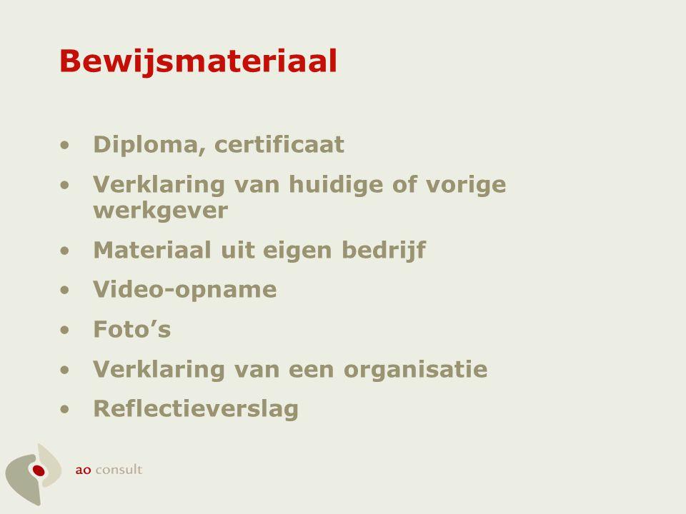 Bewijsmateriaal Diploma, certificaat