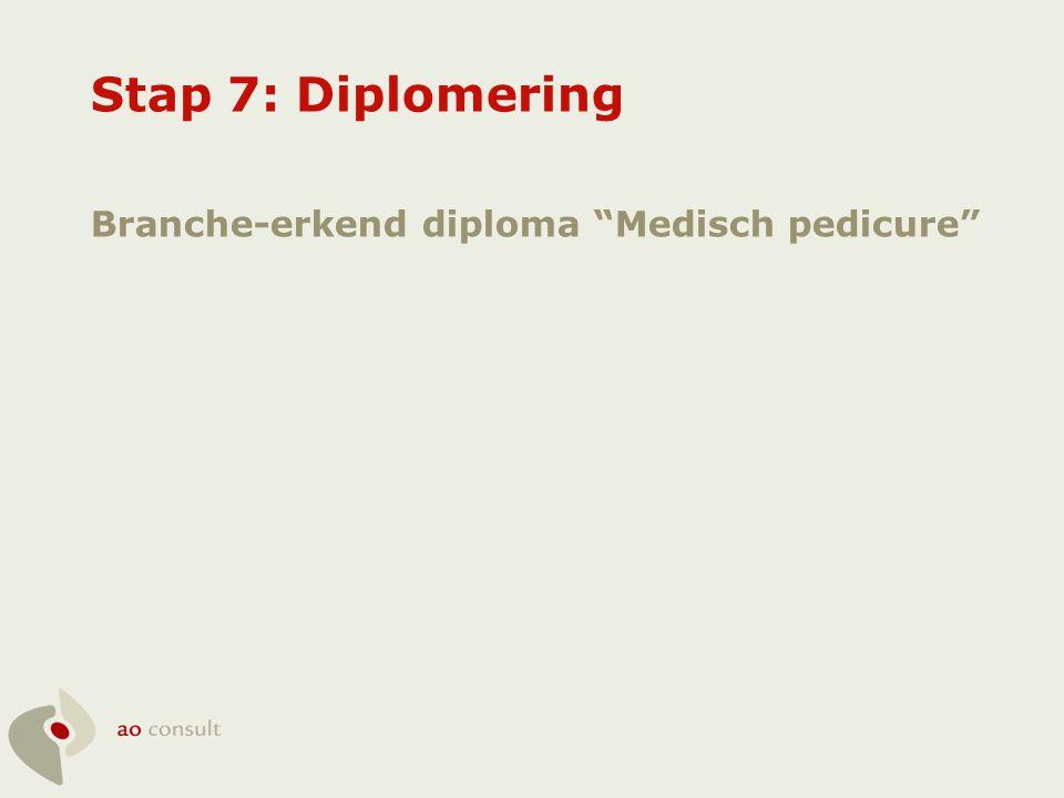 Stap 7: Diplomering Branche-erkend diploma Medisch pedicure