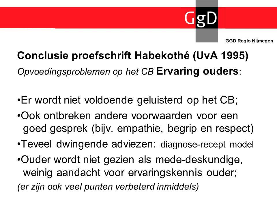 Conclusie proefschrift Habekothé (UvA 1995)