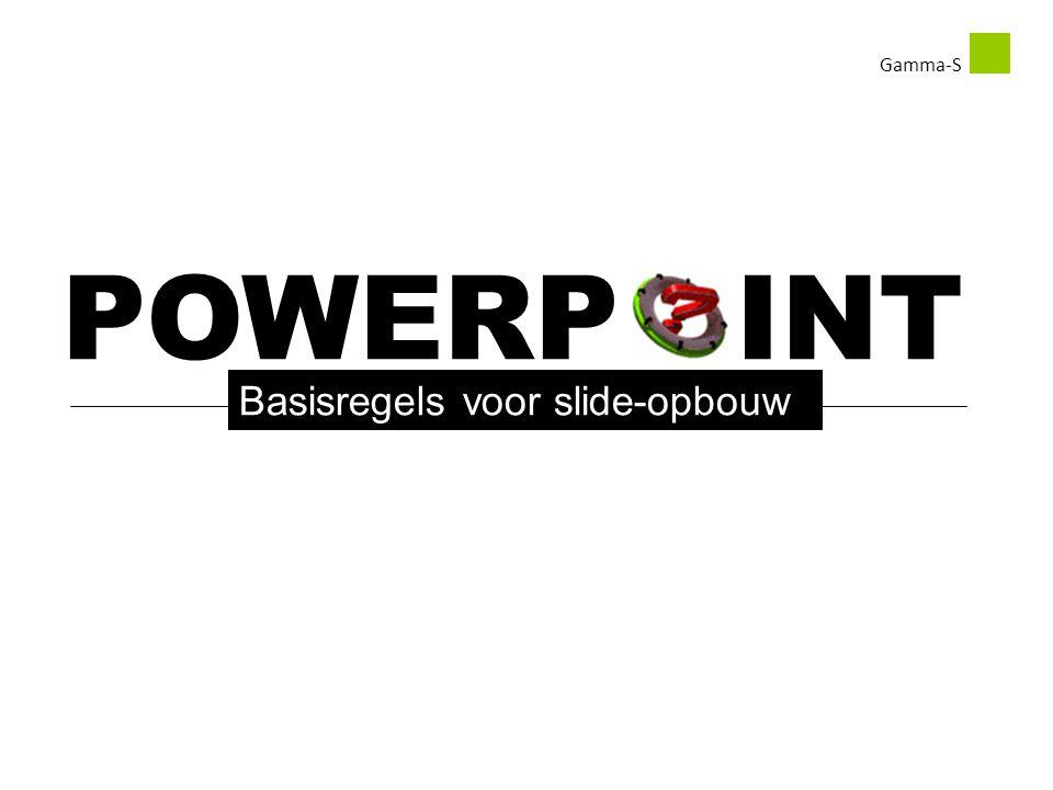 POWERP INT Basisregels voor slide-opbouw