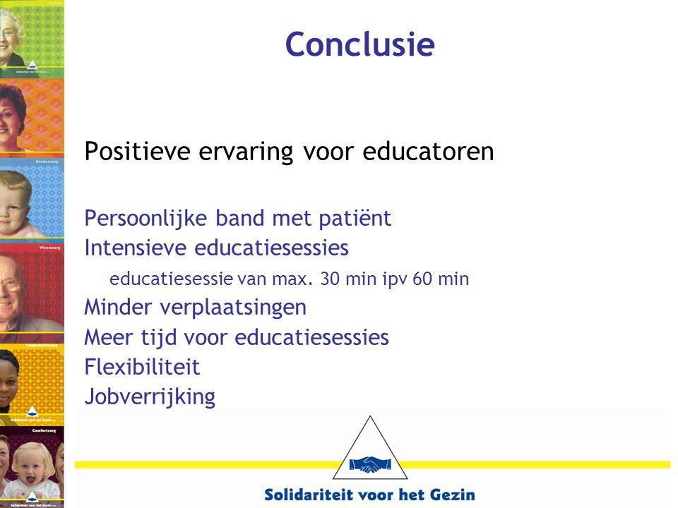 Conclusie Positieve ervaring voor educatoren
