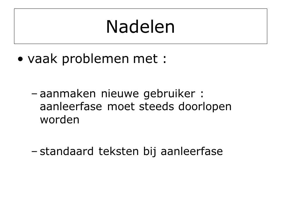 Nadelen vaak problemen met :