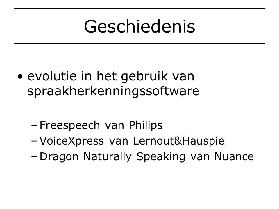 Geschiedenis evolutie in het gebruik van spraakherkenningssoftware