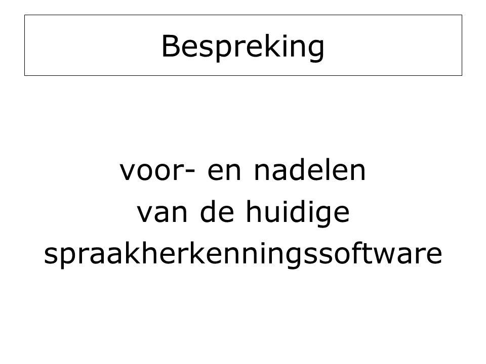 spraakherkenningssoftware