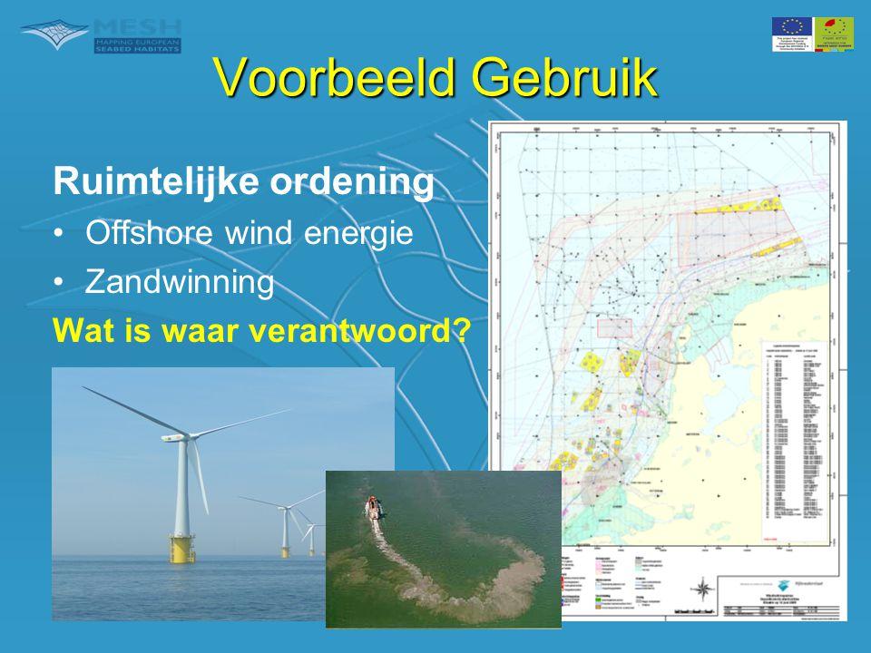 Voorbeeld Gebruik Ruimtelijke ordening Offshore wind energie