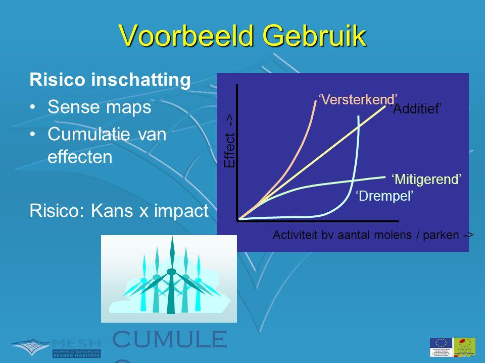 Voorbeeld Gebruik CUMULEO Risico inschatting Sense maps