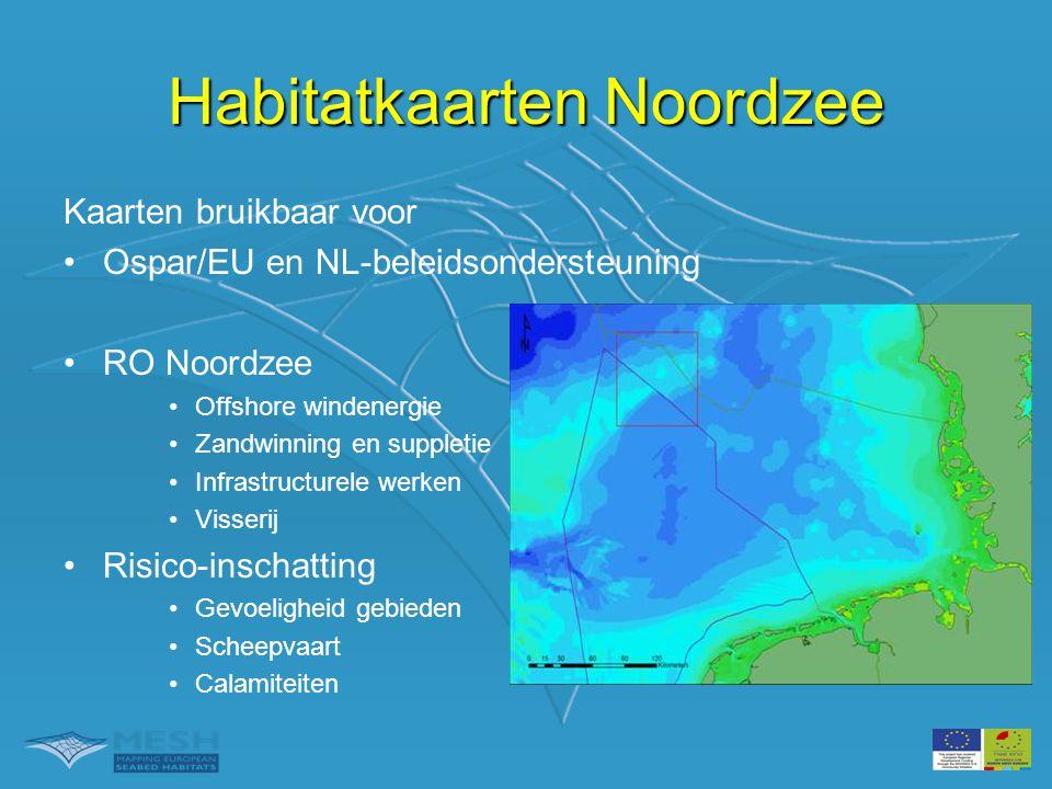 Habitatkaarten Noordzee