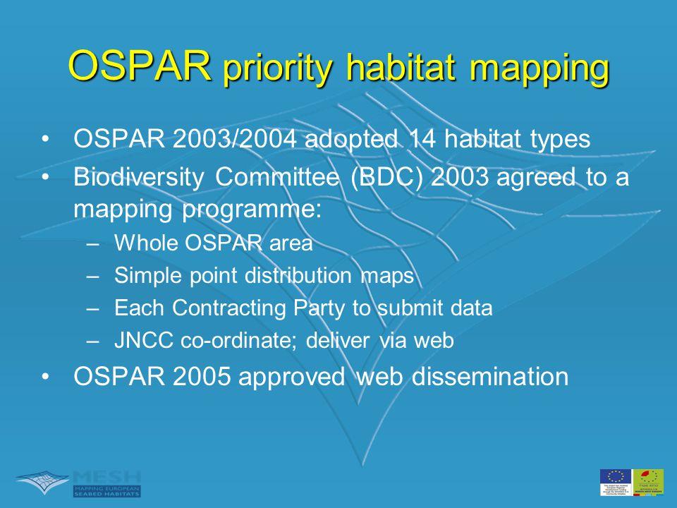 OSPAR priority habitat mapping