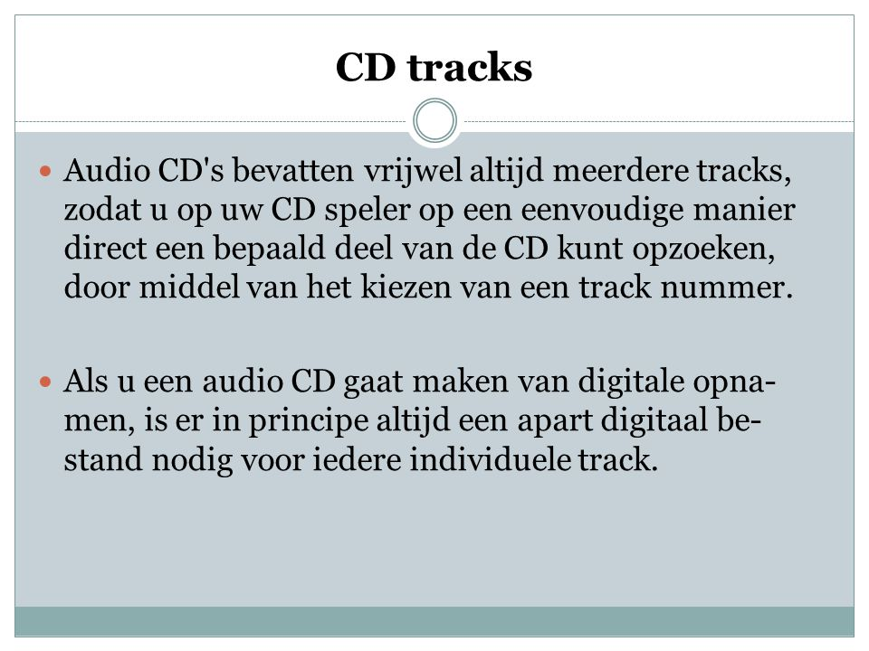 CD tracks