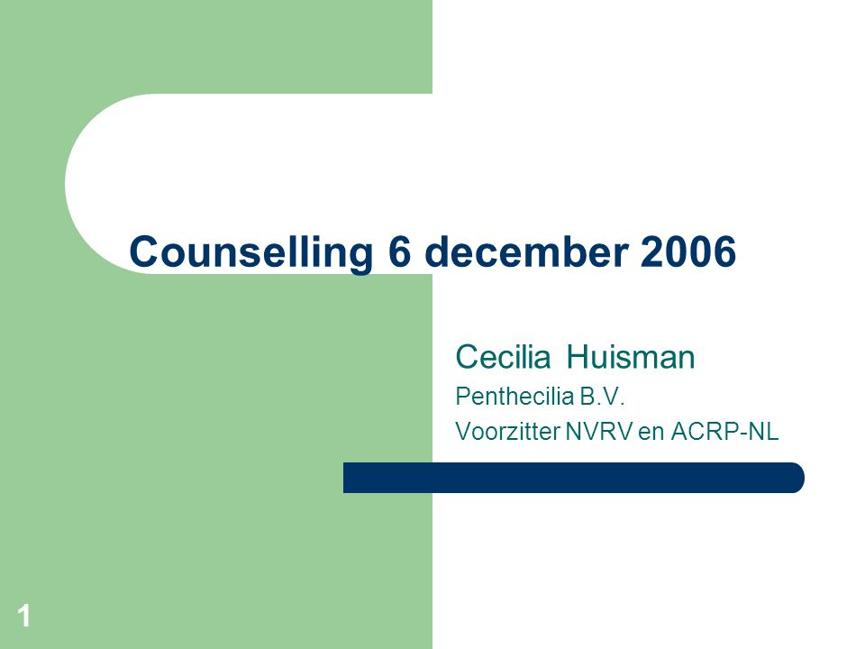 Cecilia Huisman Penthecilia B.V. Voorzitter NVRV en ACRP-NL