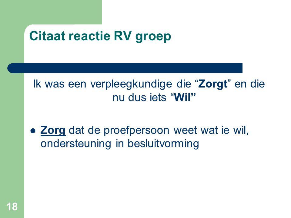 Citaat reactie RV groep