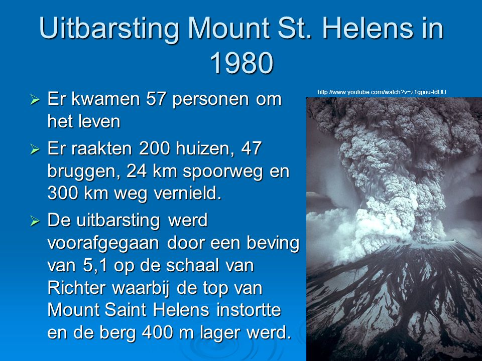Uitbarsting Mount St. Helens in 1980