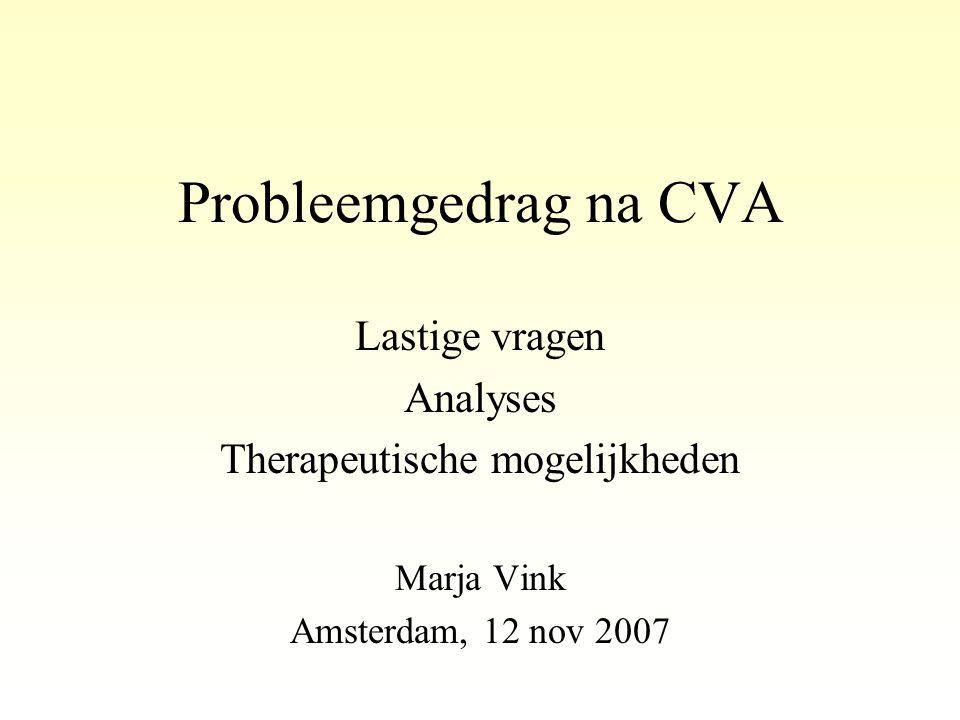 Therapeutische mogelijkheden