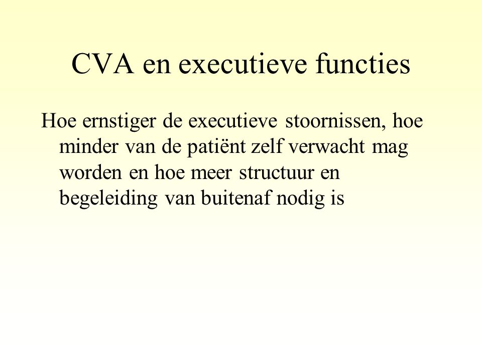 CVA en executieve functies