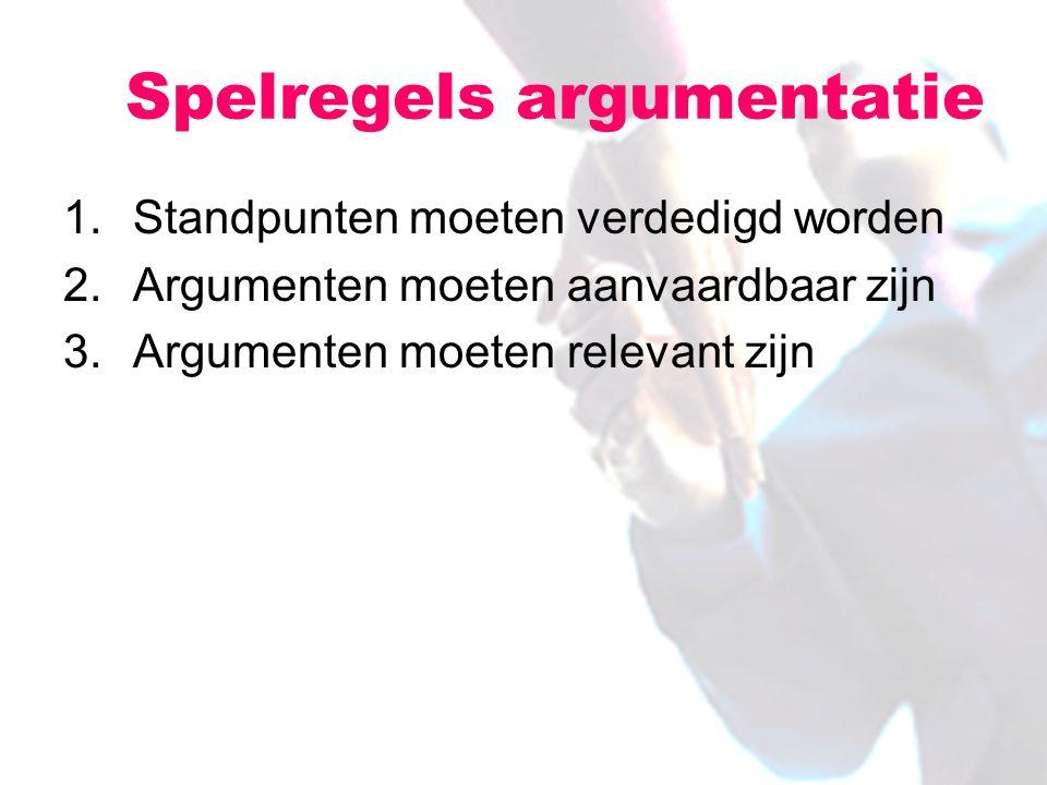 Spelregels argumentatie
