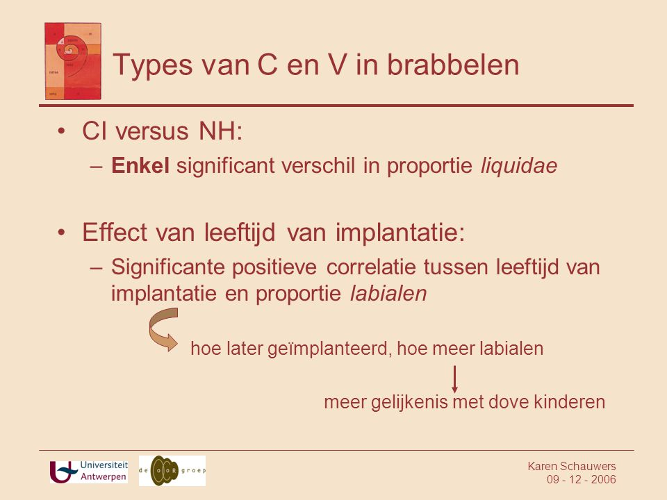 Types van C en V in brabbelen