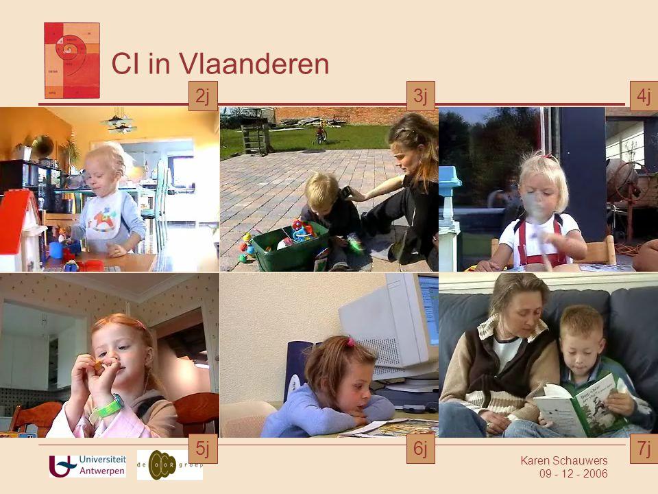 CI in Vlaanderen 2j 3j 4j 5j 6j 7j Karen Schauwers 09 - 12 - 2006